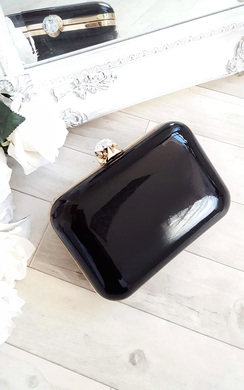 View the Elena Shiny Mirror Effect Clutch Bag online at iKrush