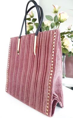 View the Merisa Studded Suede Handbag  online at iKrush
