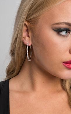 View the Rita Hoops Earrings online at iKrush