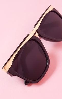 View the Florita Gold Bar Black Sunglasses online at iKrush