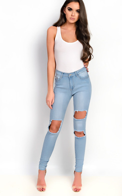 View the Raini Skinny Ripped Distressed Jeans online at iKrush