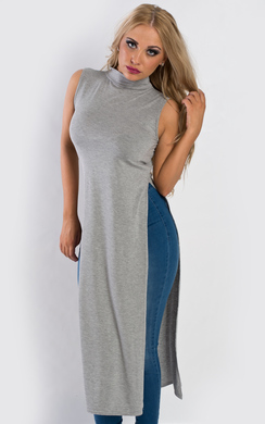 View the Darcy Side Split Midi Dress online at iKrush