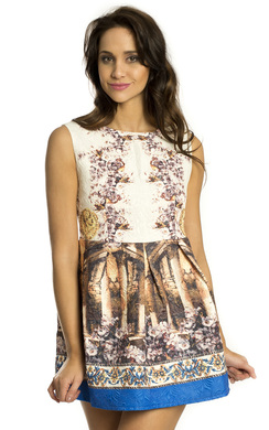 View the Kassandra Printed Skater Dress online at iKrush