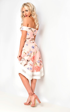 38f3700a88 View the Anya Off Shoulder Floral Skater Dress online at iKrush