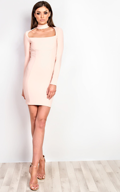 View the Ravenna Choker Neck Bodycon Dress online at iKrush