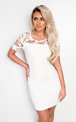 View the Emilia Lace Bodycon Dress online at iKrush