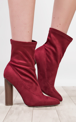 View the Naomi Faux Suede Heeled Boots  online at iKrush