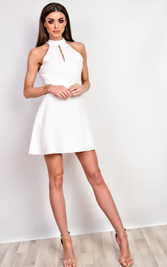 View the Sophia Lace Skater Dress online at iKrush