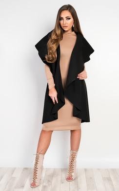 View the Deena Waterfall Sleeveless Coat online at iKrush
