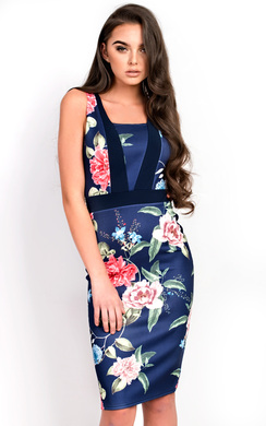 View the Tyler Floral Midi Dress online at iKrush