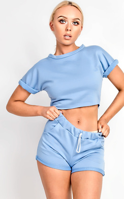 View the Cacelia Crop Co-ord Loungewear Set online at iKrush