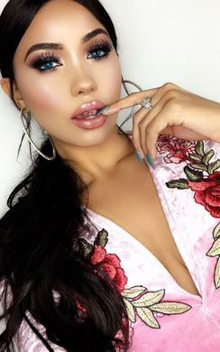 View the Rosilee Velvet Embroidered Bodysuit  online at iKrush