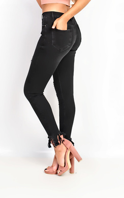 View the Caralee Ripped Skinny Jeans online at iKrush