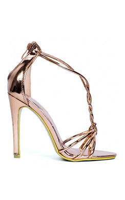 View the Dania Rose Gold High Heels  online at iKrush