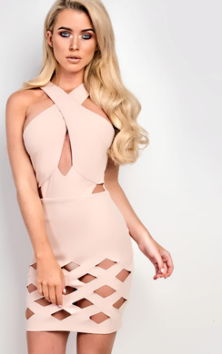 View the Lucinda Laser Cut Bodycon Dress online at iKrush
