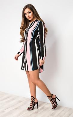 View the Maya Striped Shirt Dress online at iKrush
