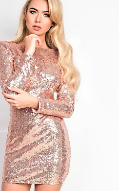 View the Eboni Sequin Bodycon Dress online at iKrush