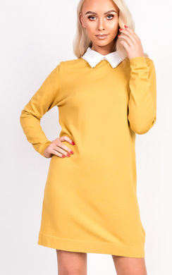 View the Kady Beaded Collar Knit Dress online at iKrush
