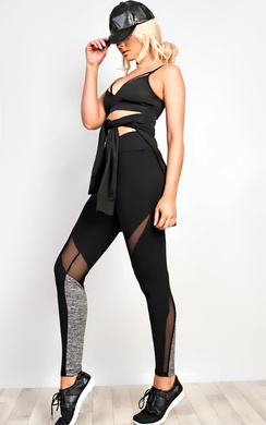 View the Active Mesh Detail Gym Leggings online at iKrush