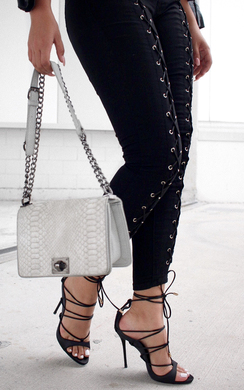 View the Serenity Lace Up Jeans online at iKrush