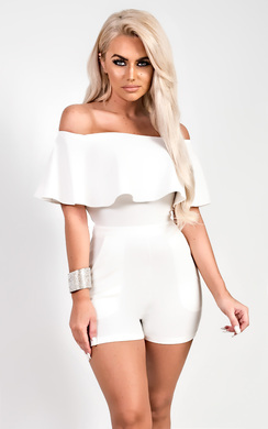 View the Roya Off Shoulder Playsuit online at iKrush