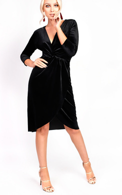 View the Serena Wrap Velvet Bodycon Dress online at iKrush