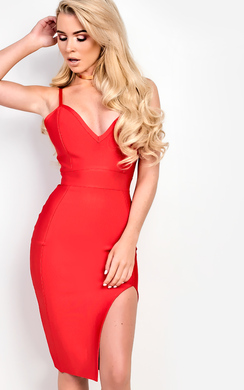 View the Sylvia Bandage Bodycon Dress online at iKrush