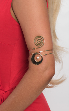 View the Nini Swirl Arm Cuff online at iKrush