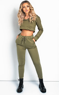 View the Abigail Basic Lounge Cropped Co-ord online at iKrush