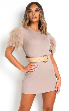 View the Addie Tulle Knit Dress online at iKrush