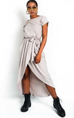 View the Adele T-Shirt Midi Dress online at iKrush