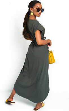View the Adele T-Shirt Midi Dress online at iKrush