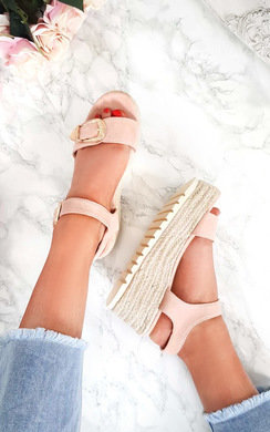 View the Afia Double Buckle Flatform Sandals online at iKrush