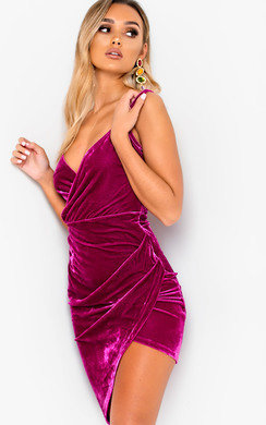 View the Agate Velvet Bodycon Mini Dress online at iKrush