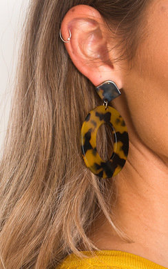 View the Ains Tortoiseshell Hoop Earrings  online at iKrush