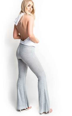 View the Ainslie Ribbed Flared Trousers online at iKrush