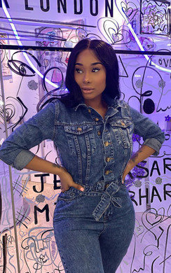 View the Alba Denim Button Up Jumpsuit online at iKrush