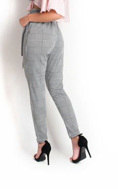 View the Alba Paperbag Check Trousers online at iKrush