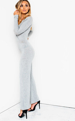 View the Albany Ribbed Wide Leg Jumpsuit online at iKrush