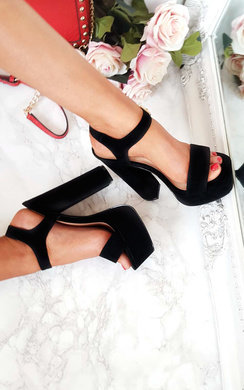 View the Alexi Strappy Platform Block Heels online at iKrush