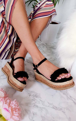 View the Ali Frill Flatform Sandals online at iKrush