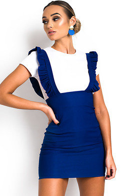 View the Ali Pinafore Mini Dress online at iKrush