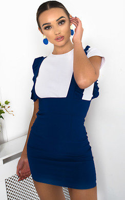 View the Ali Pinafore Mini Dress online at iKrush