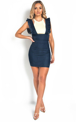 View the Aliana Pinafore Mini Dress online at iKrush