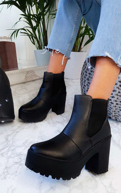 View the Alice Chunky Heeled Boots online at iKrush
