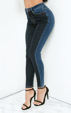 View the Alice Colour Block Skinny Jeans online at iKrush