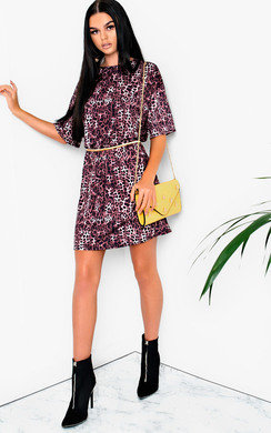 View the Alicia Printed T-Shirt Dress online at iKrush