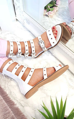 View the Alina Gladiator Strap Studded Sandals  online at iKrush
