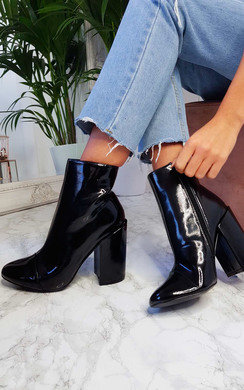 View the Amalie Block Heeled Boots online at iKrush