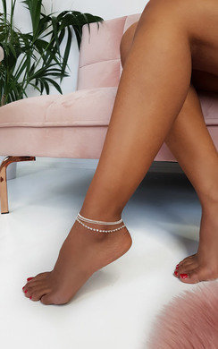 View the Amanda Multi Chain Diamante Anklet online at iKrush